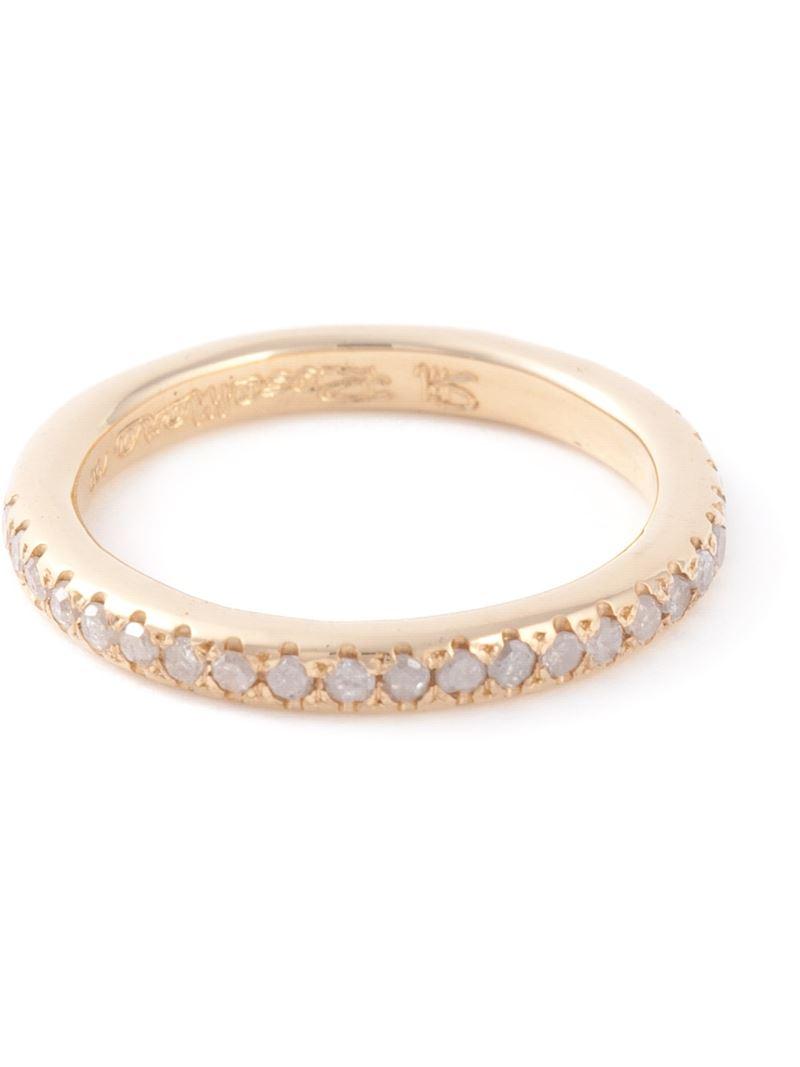 Rosa Maria pave diamond and sapphire ring - Metallic zcvXa