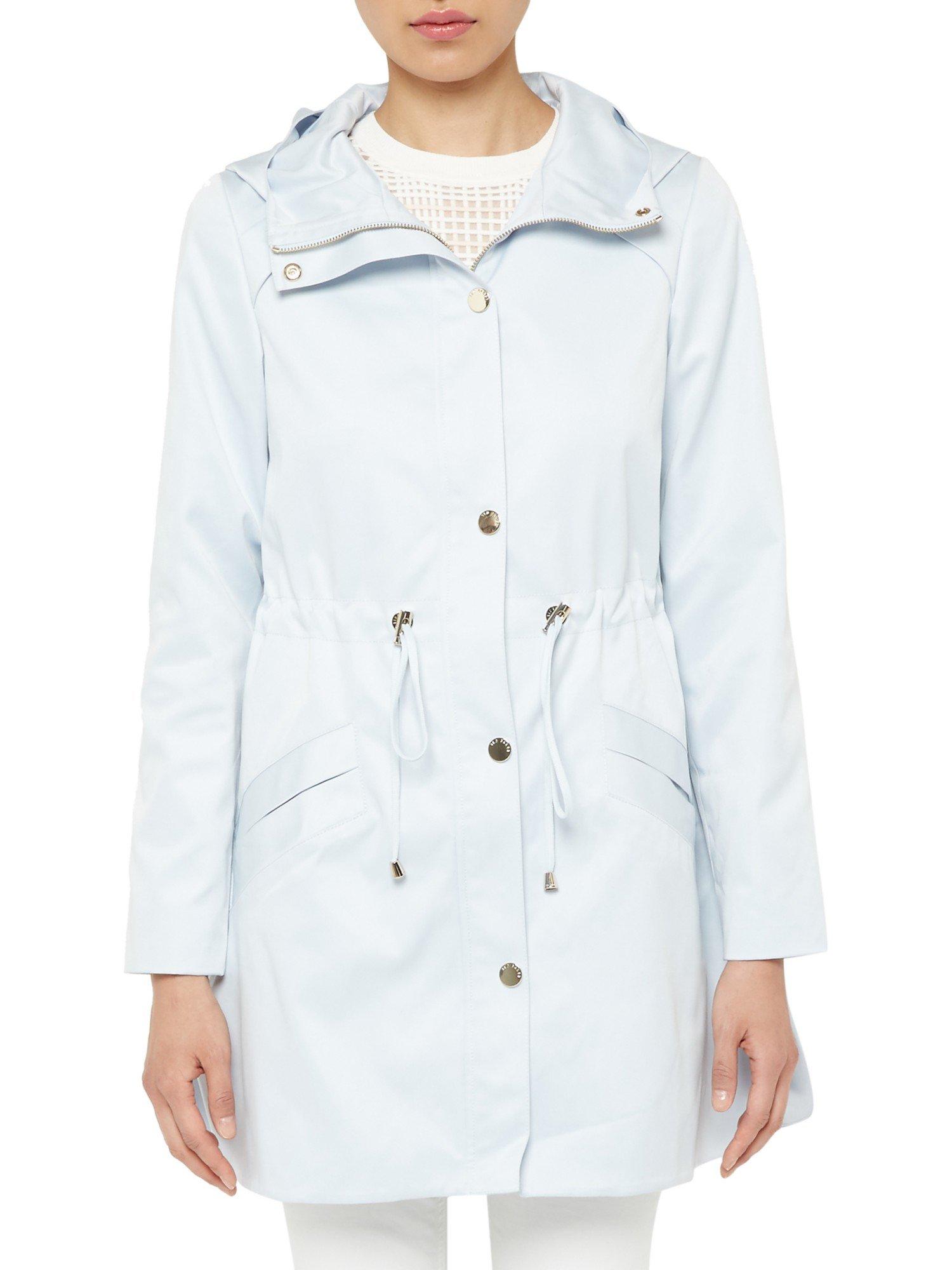 Ted baker Valeska Hooded Parka Jacket in Blue | Lyst