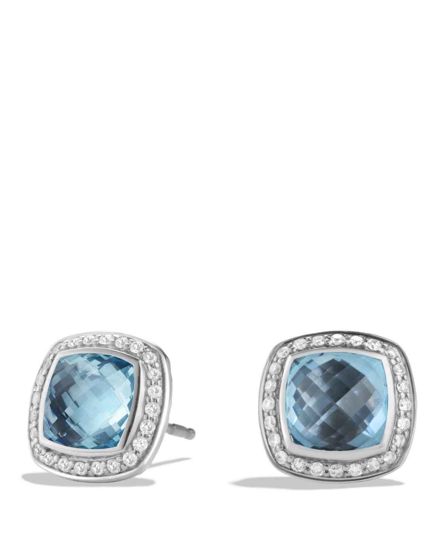 david yurman albion earrings with blue topaz and diamonds