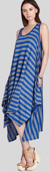 Bcbgmaxazria bcbg max azria dress mylene stripe in blue blue heather