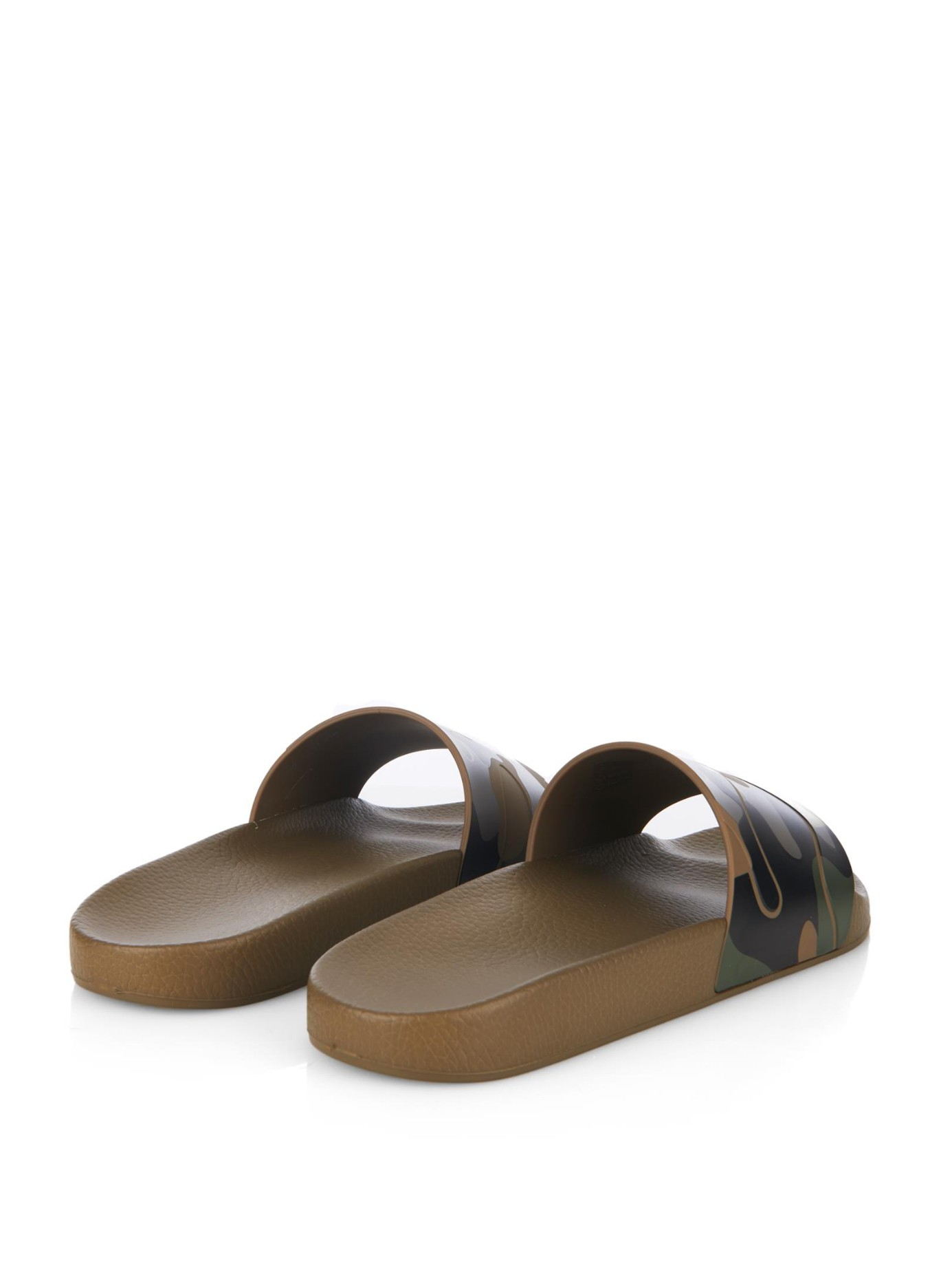 729897176409 Lyst - Valentino Camouflage-Print Pvc Pool Slides in Green for Men