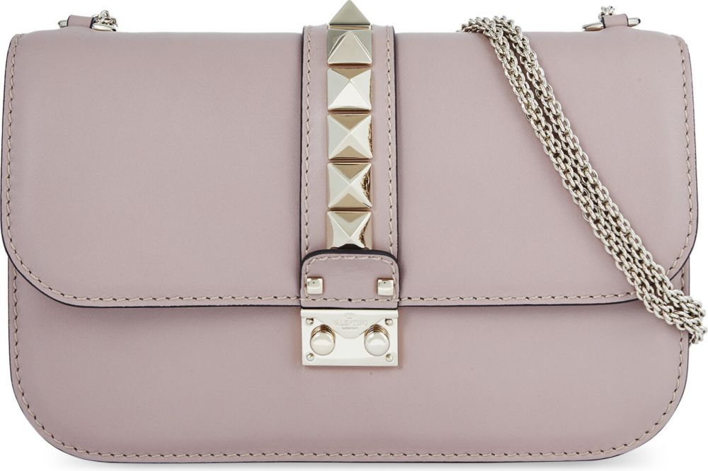 28ec012dd6 Gallery. Lyst Valentino Studded Medium Leather Shoulder Bag -  Source. Valentino  garavani the rockstud ...