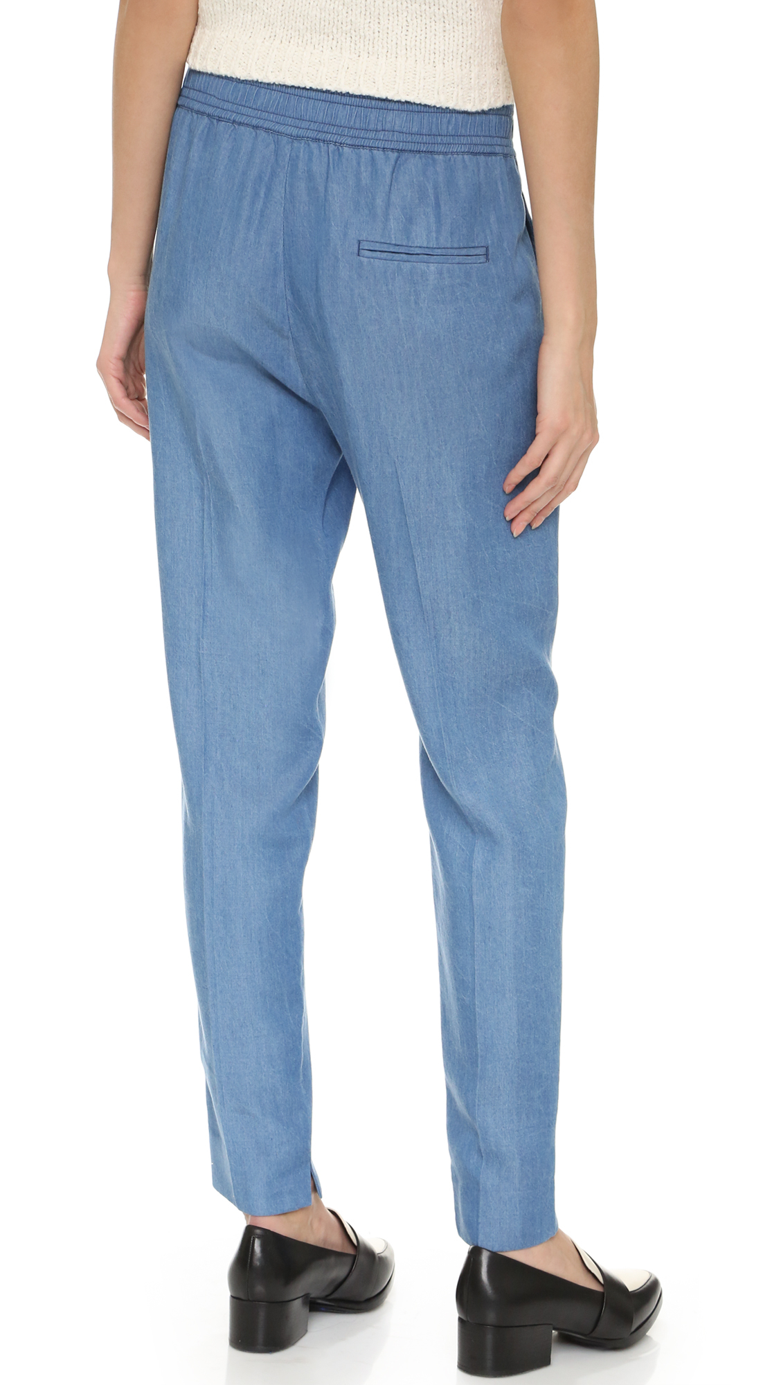 3.1 phillip lim Chambray Pants in Blue | Lyst