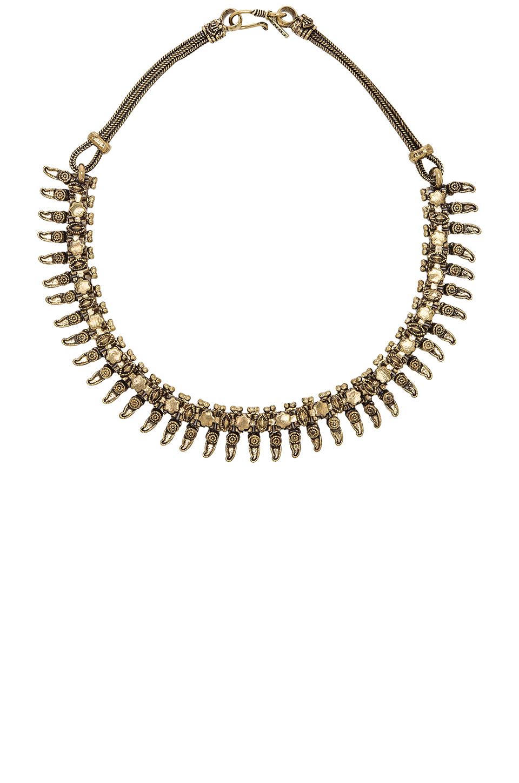 natalie b jewelry rani bib necklace in metallic lyst