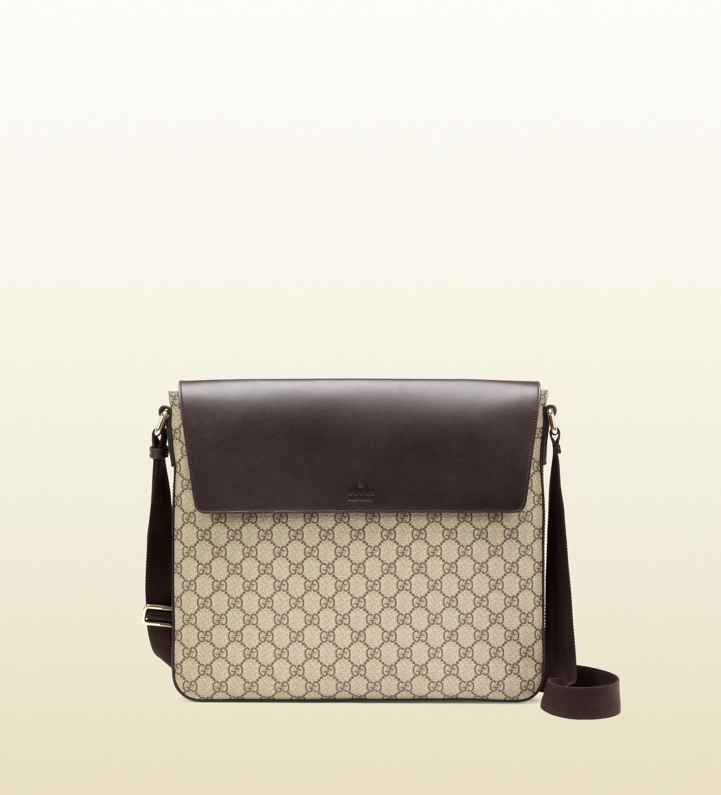 93324a12c88c Gucci Gg Supreme Canvas Messenger Bag in Black for Men - Lyst