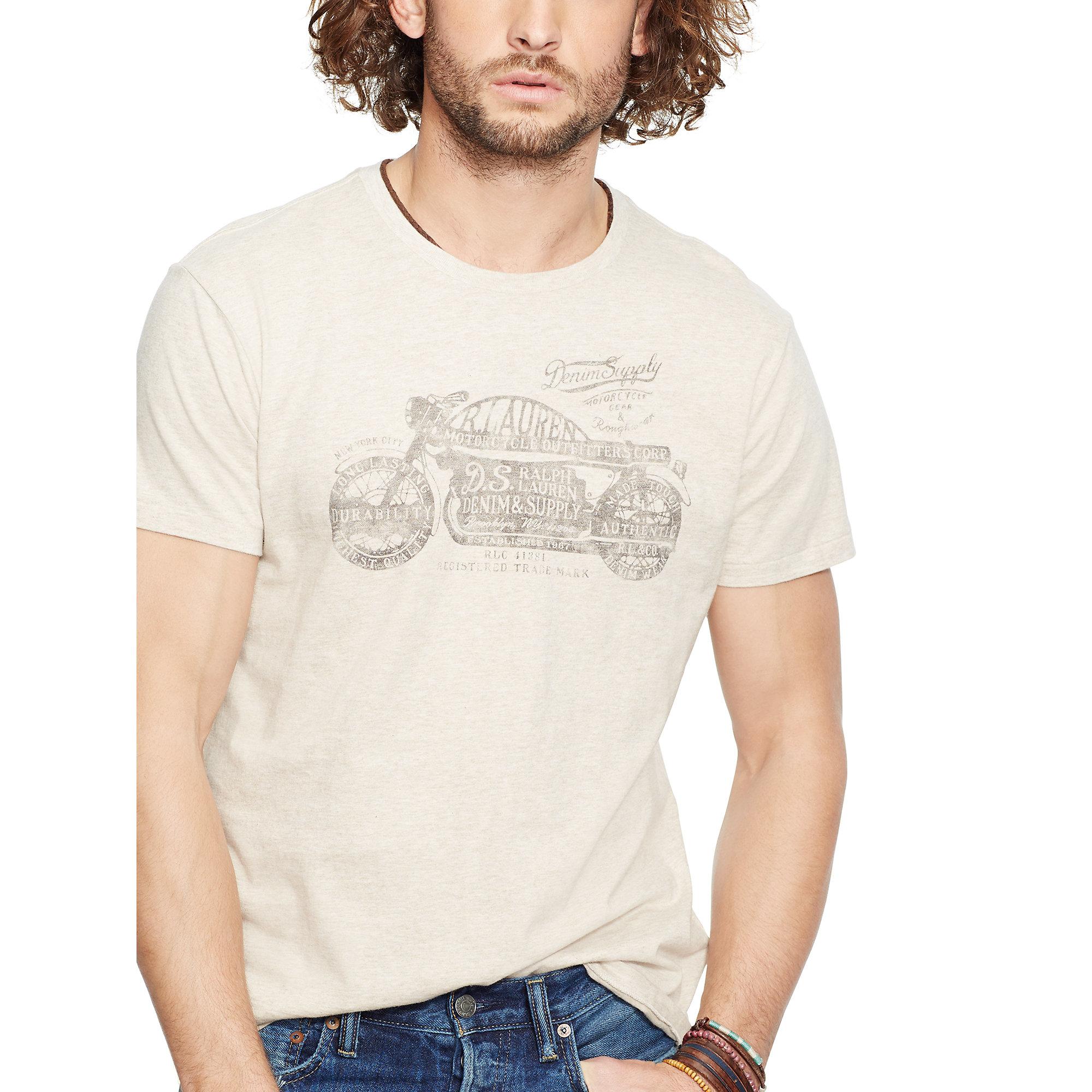 2bc59ebcea99c8 Lyst - Denim   Supply Ralph Lauren Cotton Jersey Graphic Tee in ...