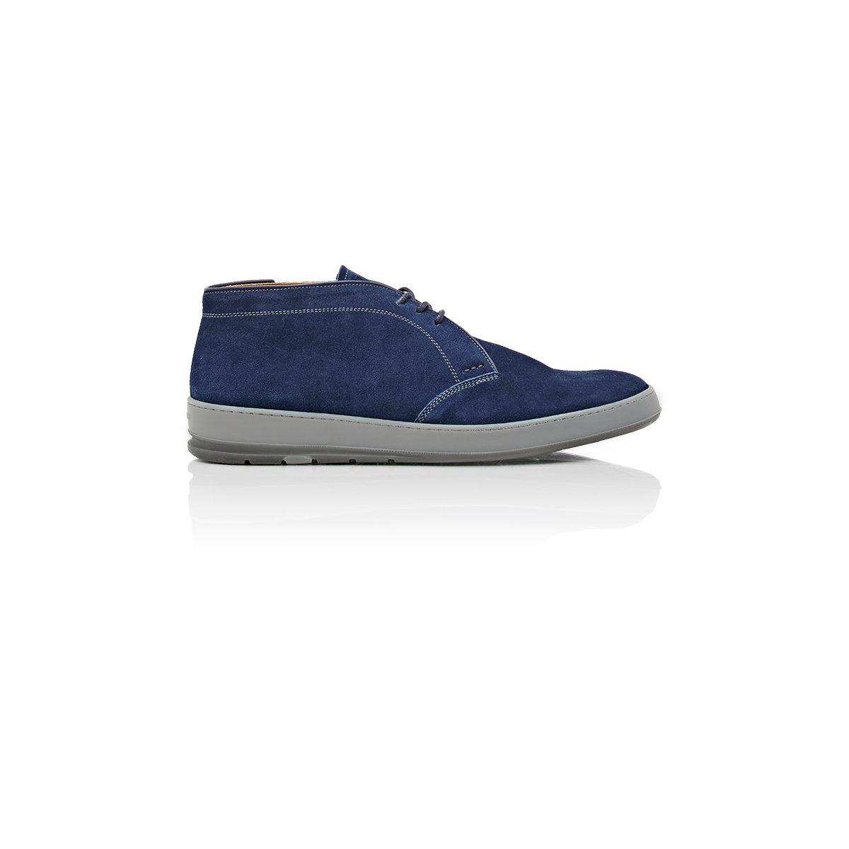 Lyst Heschung Zack Chukka Sneakers In Blue For Men