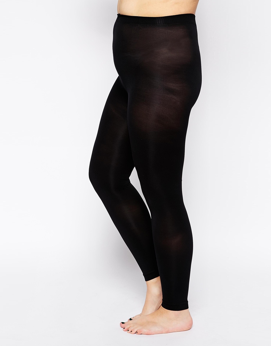 ee22a388ca100 Lyst - ASOS Curve 120 Denier Footless Tights in Black