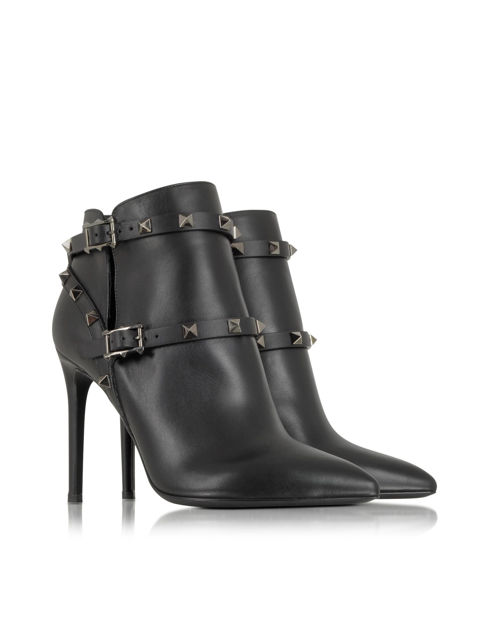 e2fc3b9bddb Boot In Valentino Lyst Leather Rockstud Noir Black Ankle xXAORqB ...