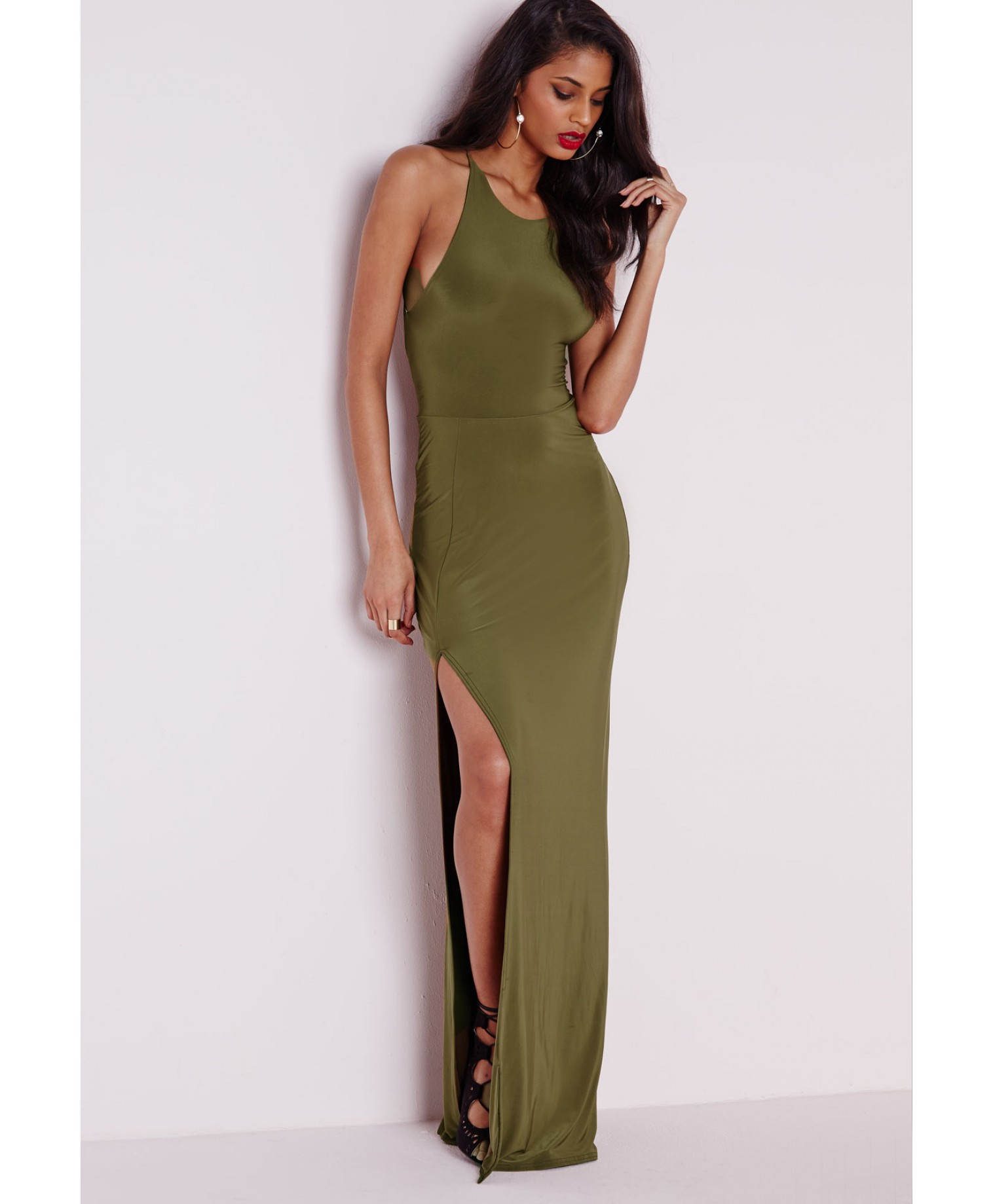 Free shipping BOTH ways on three dots racerback maxi dress w side slit, from our vast selection of styles. Fast delivery, and 24/7/ real-person service with a smile. Click or call