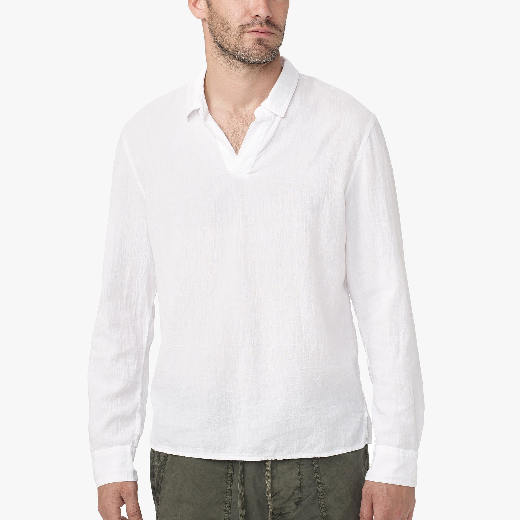 Shop white cotton spandex shirt at Neiman Marcus, where you will find free shipping on the latest in fashion from top designers. Gucci Long-Sleeve Button-Down Shirt w/ Tiger Collar, White, Size Details Gucci shirt in stretch poplin. Rounded spread collar with wrap around tiger motif. Mother-of-pearl button front.