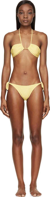 0c2d287fbe2 Lyst - Prism Yellow Bandeau Venice Beach Bikini in Yellow