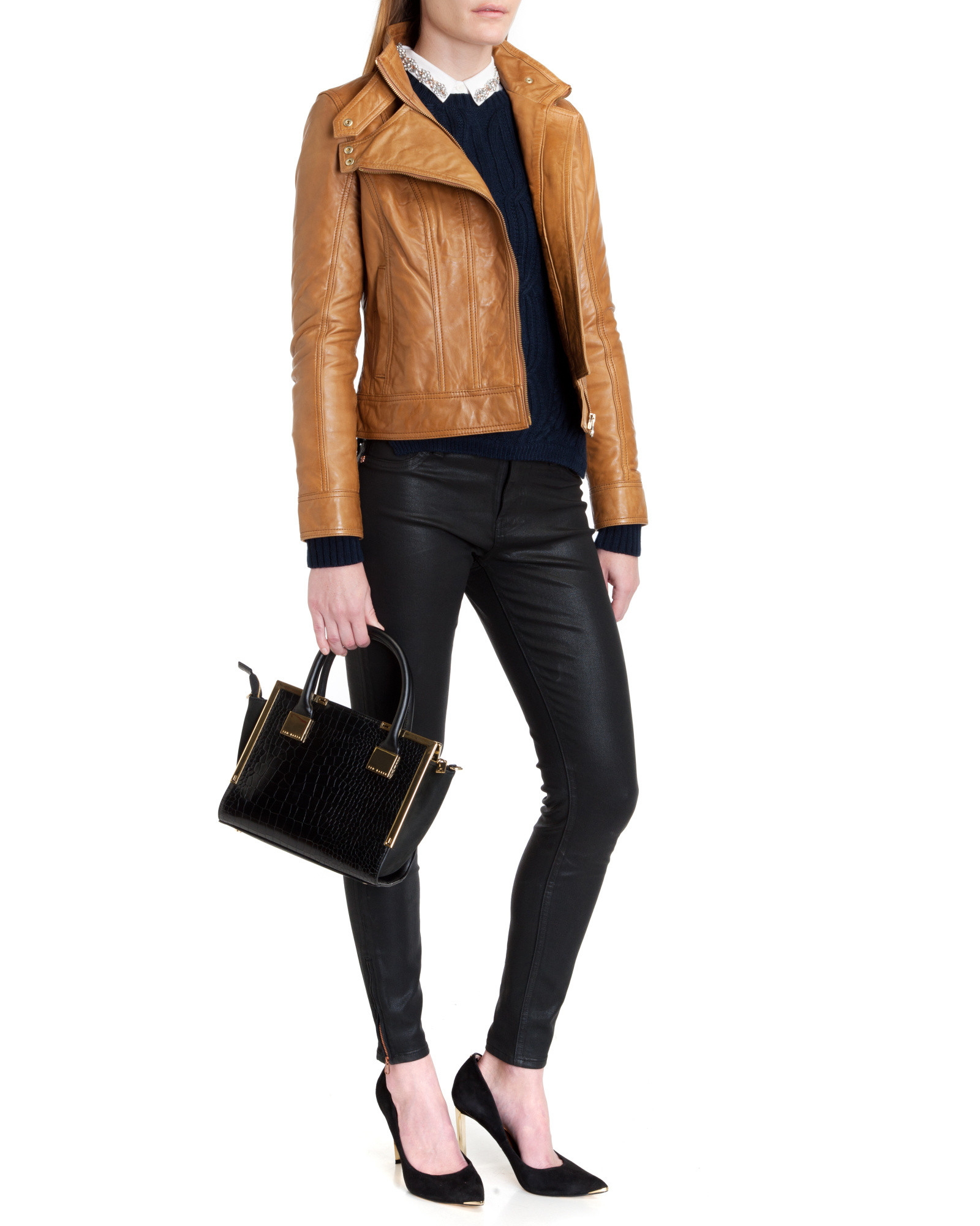 Ted baker roark leather jacket