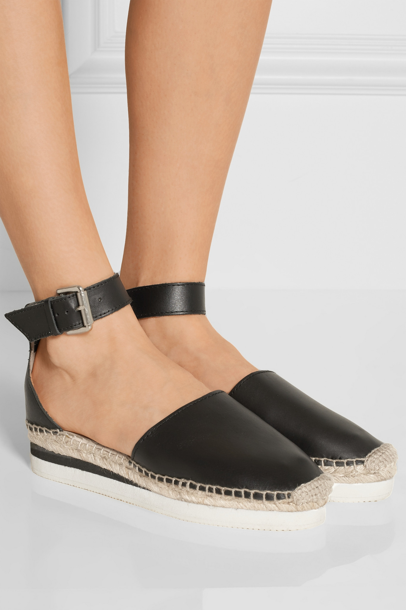 Lyst See By Chlo 233 Glyn Espadrille Wedge Sandals In Black