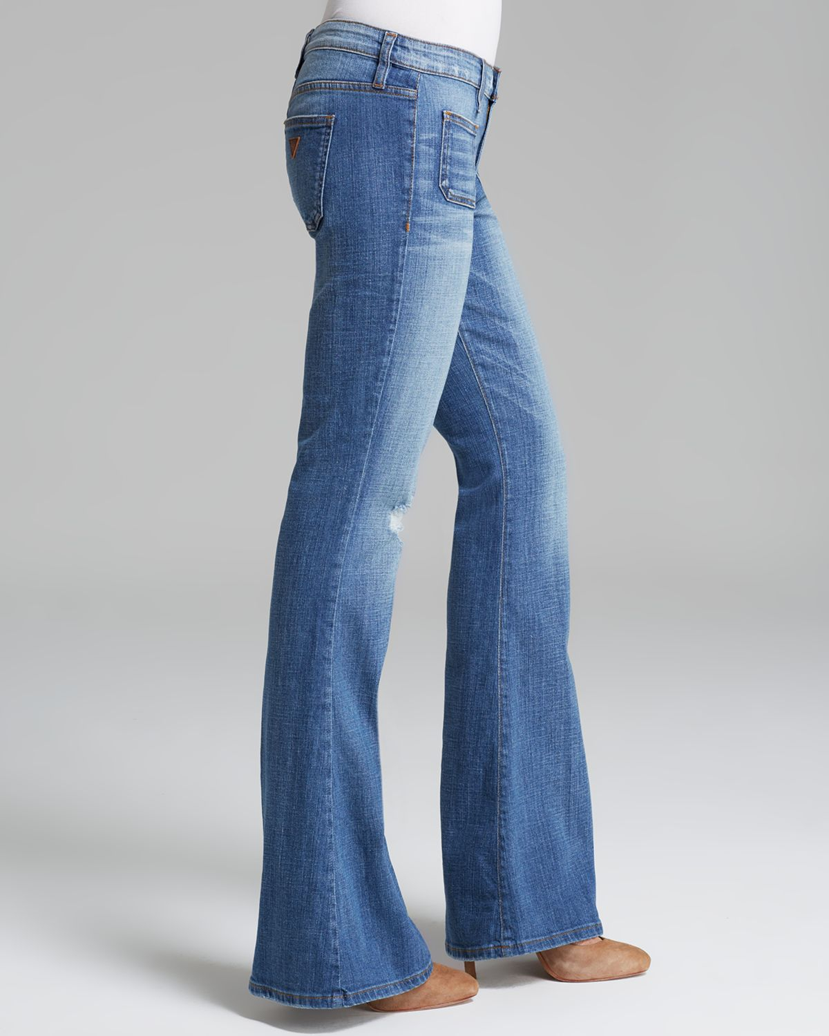 Guess Jeans 70s Flare in Rossen Wash in Blue | Lyst