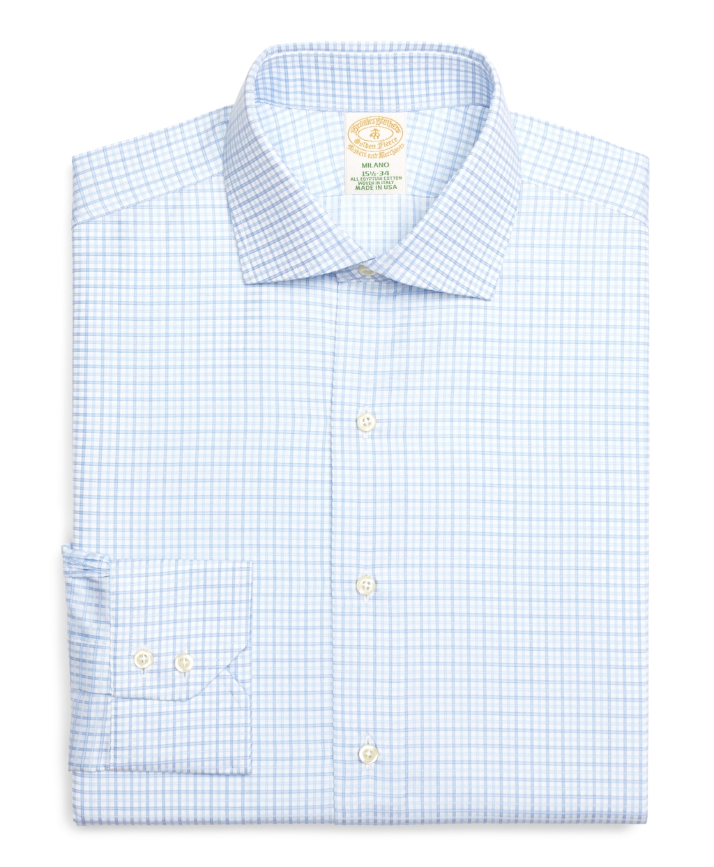 Brooks brothers madison fit tonal check dress shirt in for Blue check dress shirt