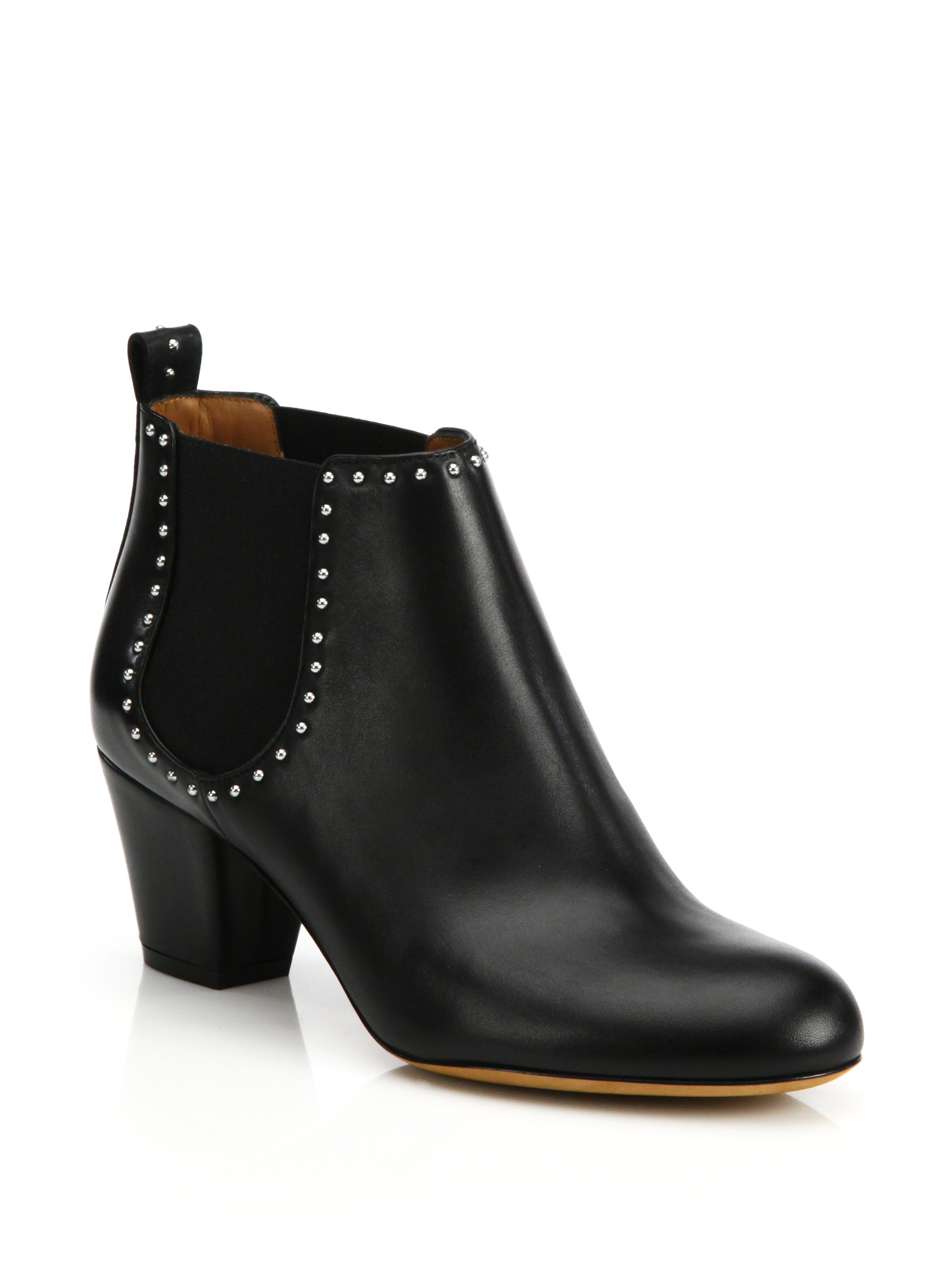 39a7b108f66 Lyst - Givenchy Elegant Studded Chelsea Ankle Boots in Black