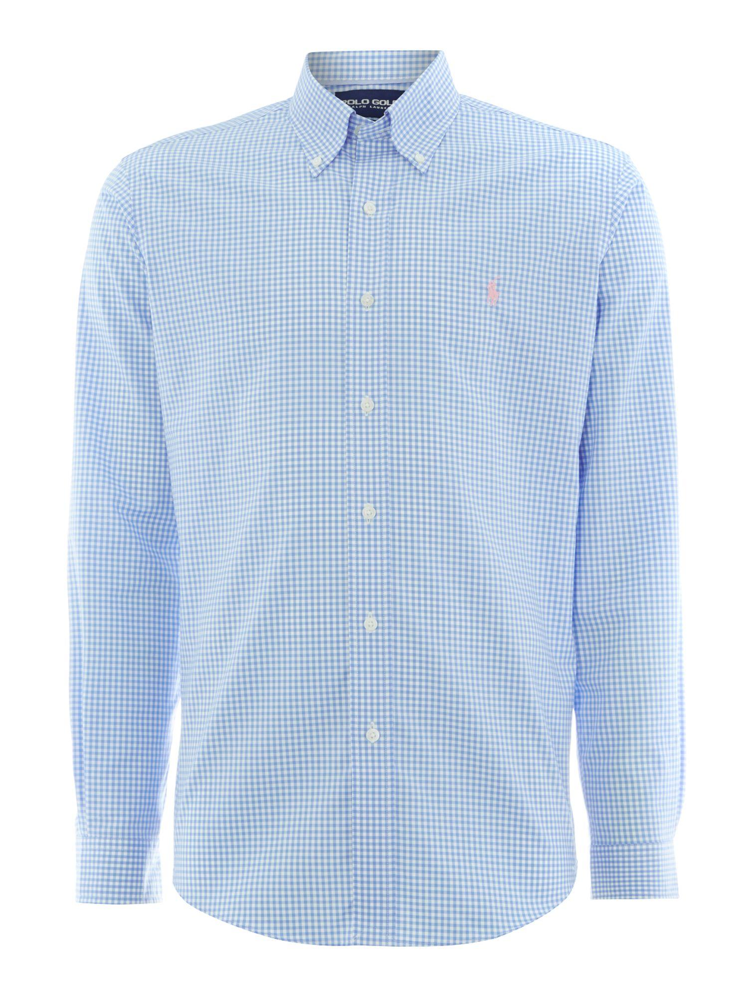 Lyst ralph lauren golf classic custom fit long sleeve for Custom fit dress shirts