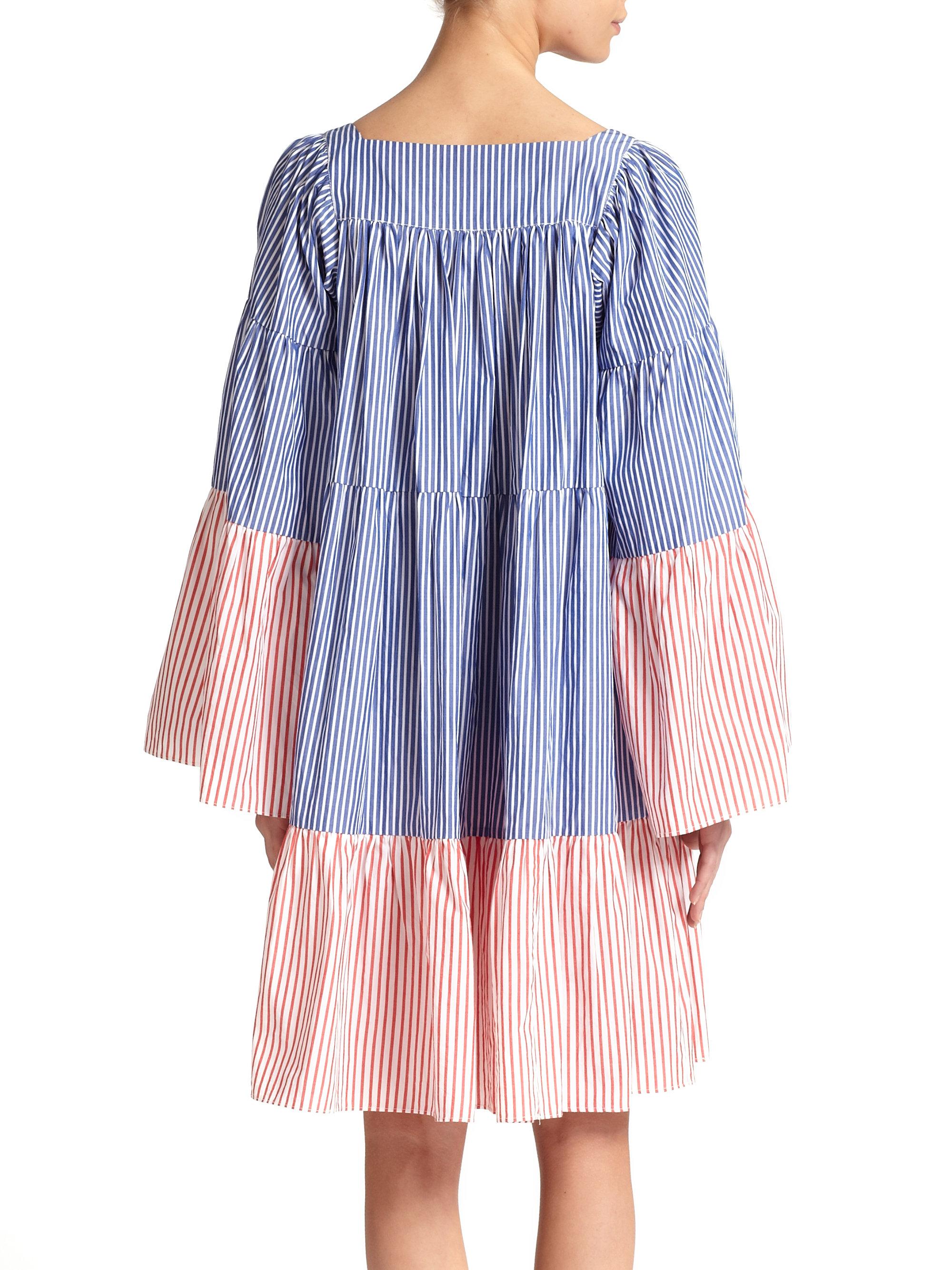 Striped seersucker maxi dress Lisa Marie Fernandez VHW5z6XD4O