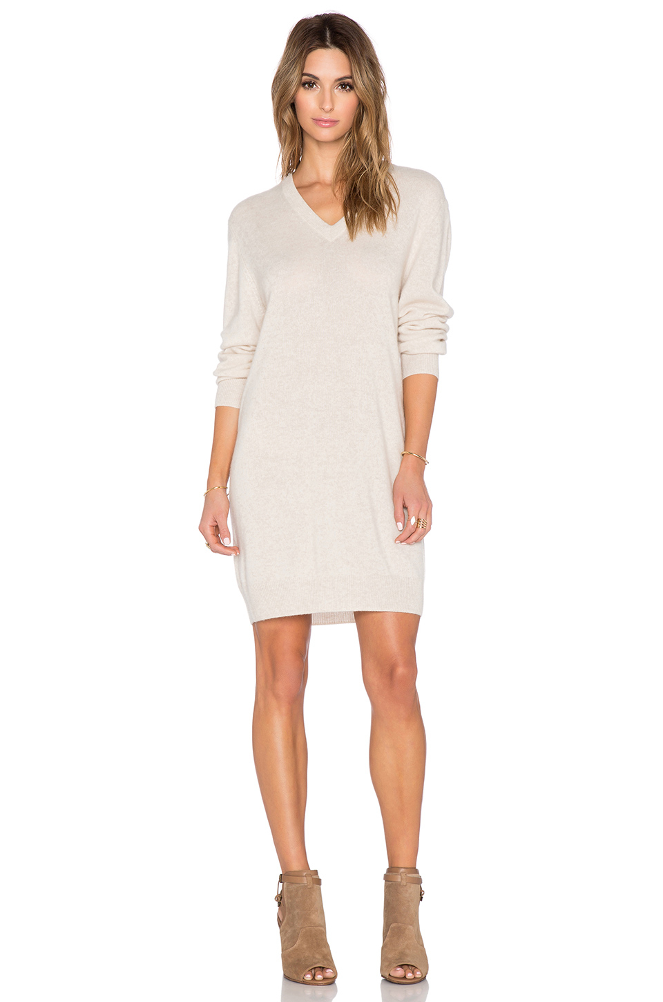 Equipment Eunice Cashmere Sweater Dress In Natural Lyst