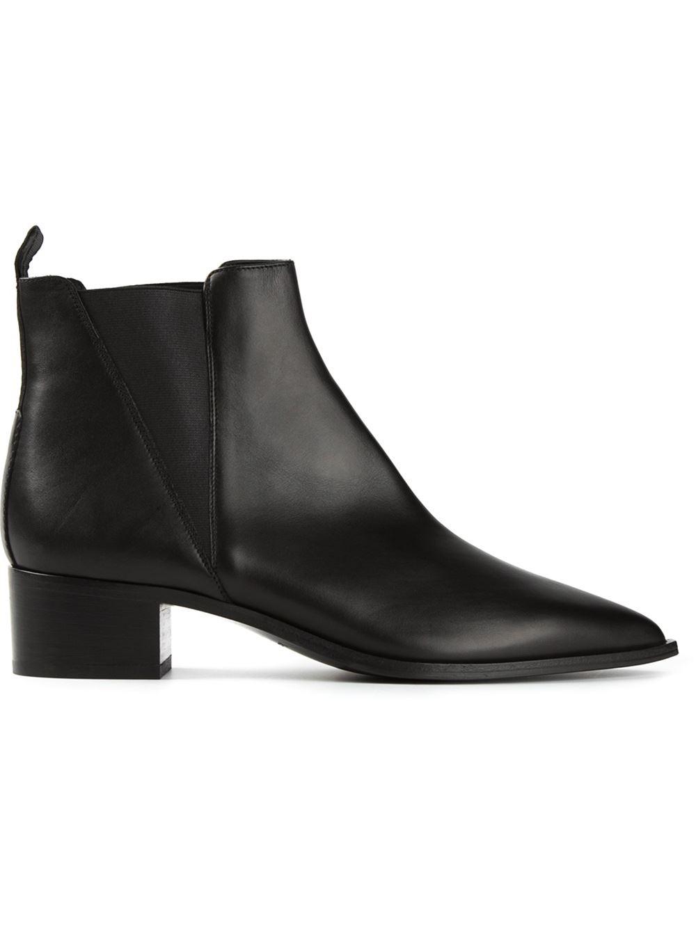 acne studios jensen ankle boots in black lyst. Black Bedroom Furniture Sets. Home Design Ideas