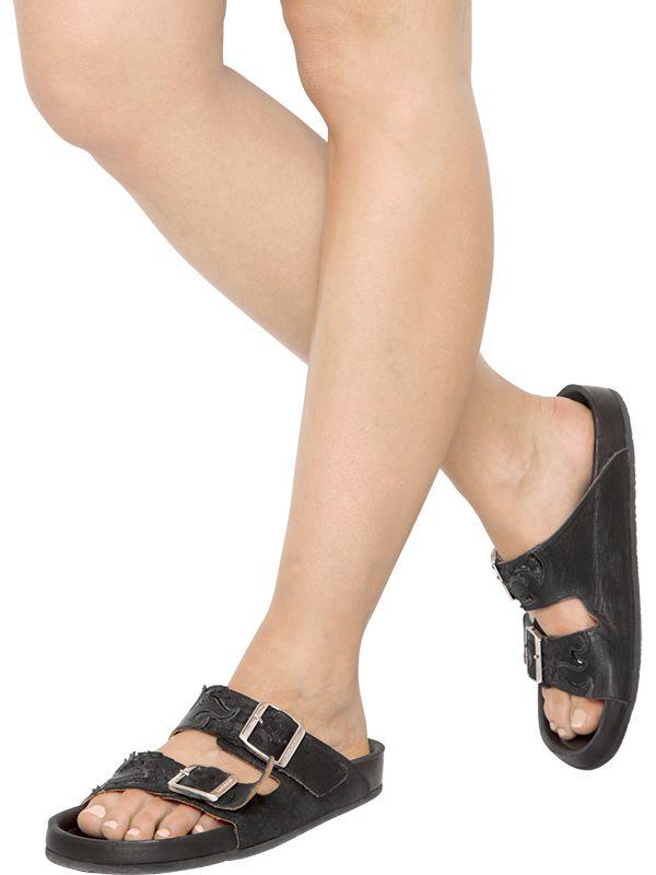 Isabel Marant Embossed Slide Sandals outlet free shipping sneakernews sale online 7tD0chQR
