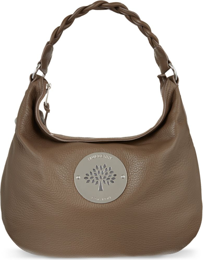4f79b06dc3 Mulberry Daria Pebbled Leather Hobo Bag in Brown - Lyst
