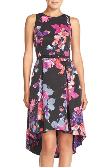 80acf099206 Lyst - Vince Camuto Belted Faille Fit-and-Flare Dress