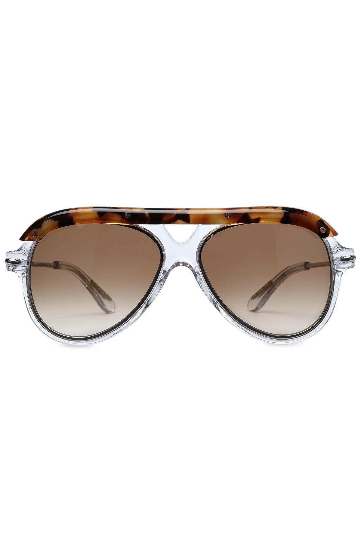 Roland Mouret Woman Round-frame Acetate Sunglasses Leaf Green Size Roland Mouret gMq2lFh