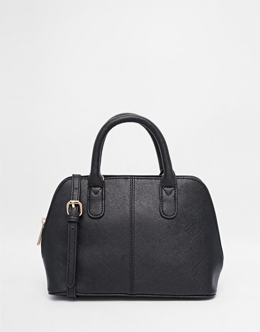 asos mini kettle tote bag in black lyst
