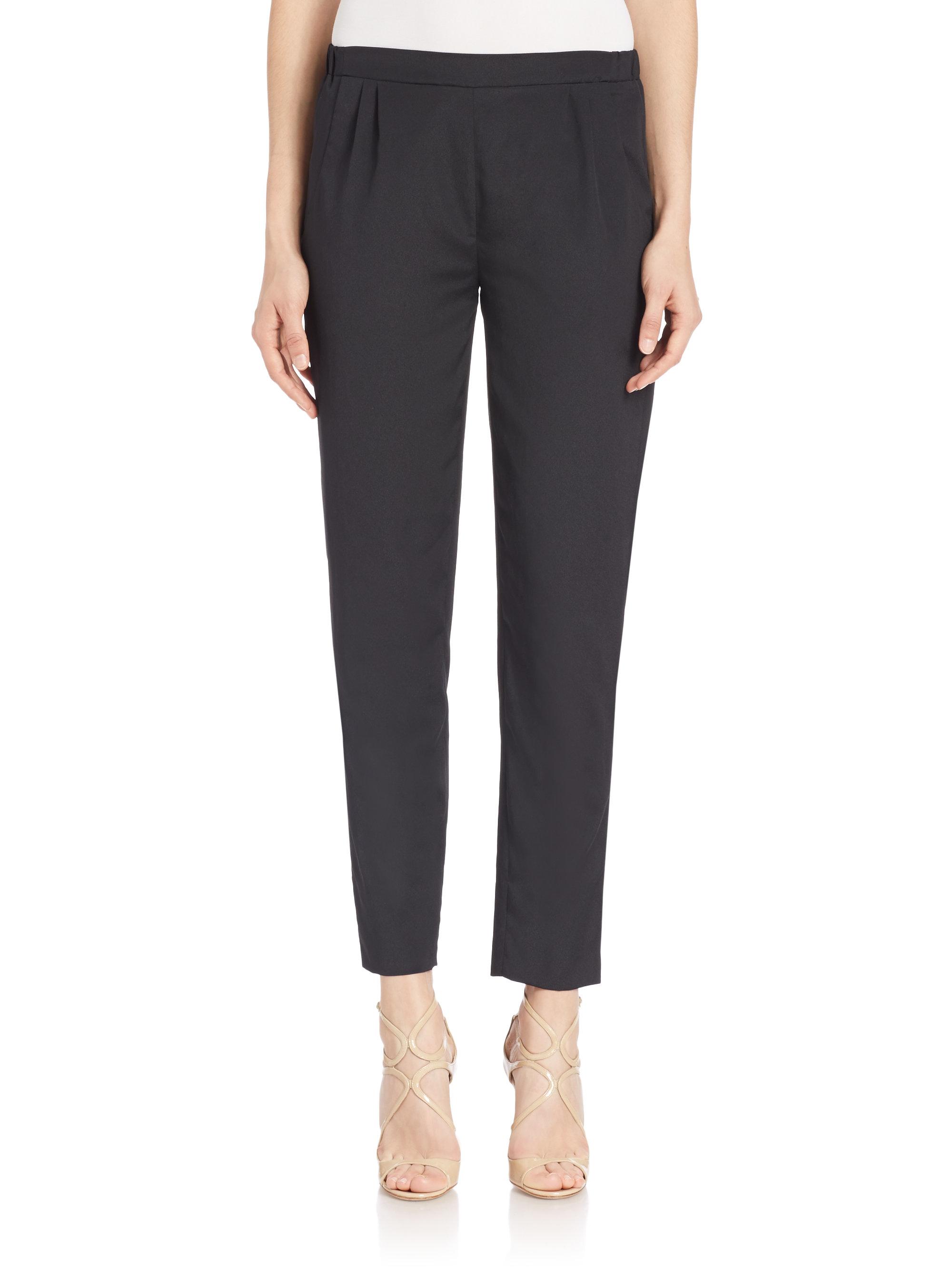 Lastest Karen Kane Straightleg Pullon Pants In Black  Lyst