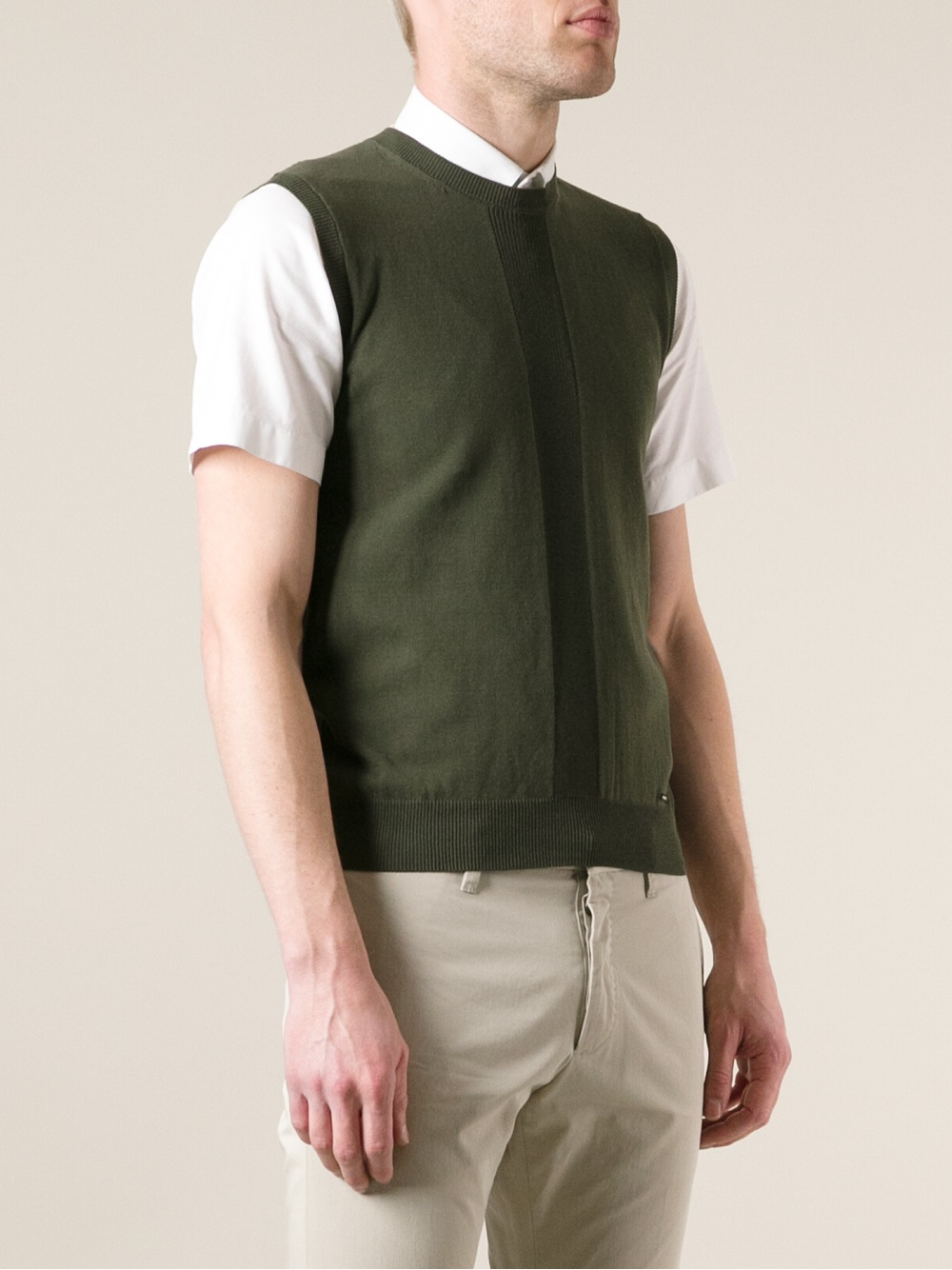 Dsquared² Sleeveless Crew Neck Sweater in Green for Men | Lyst