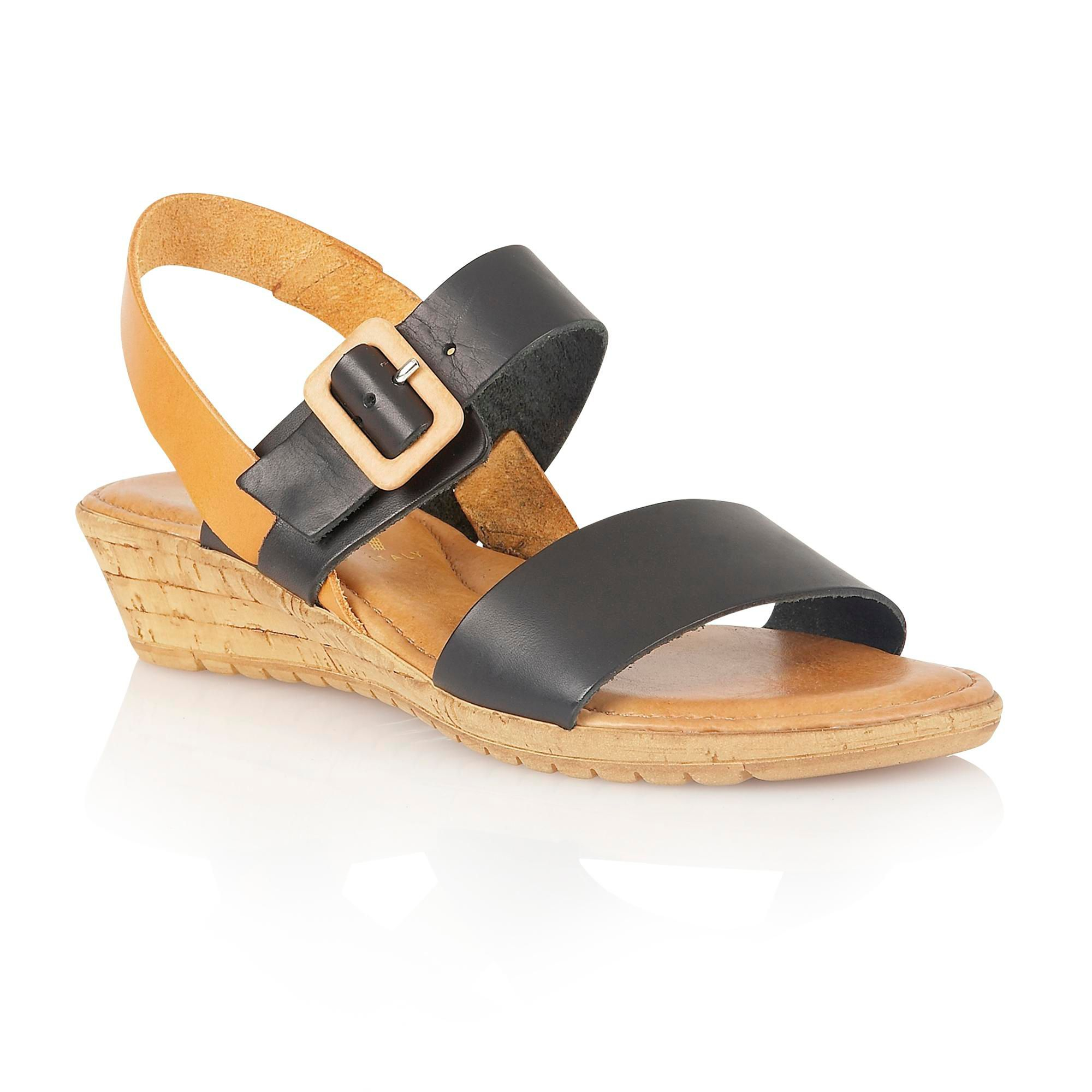 lotus banos open toe sandals in black lyst