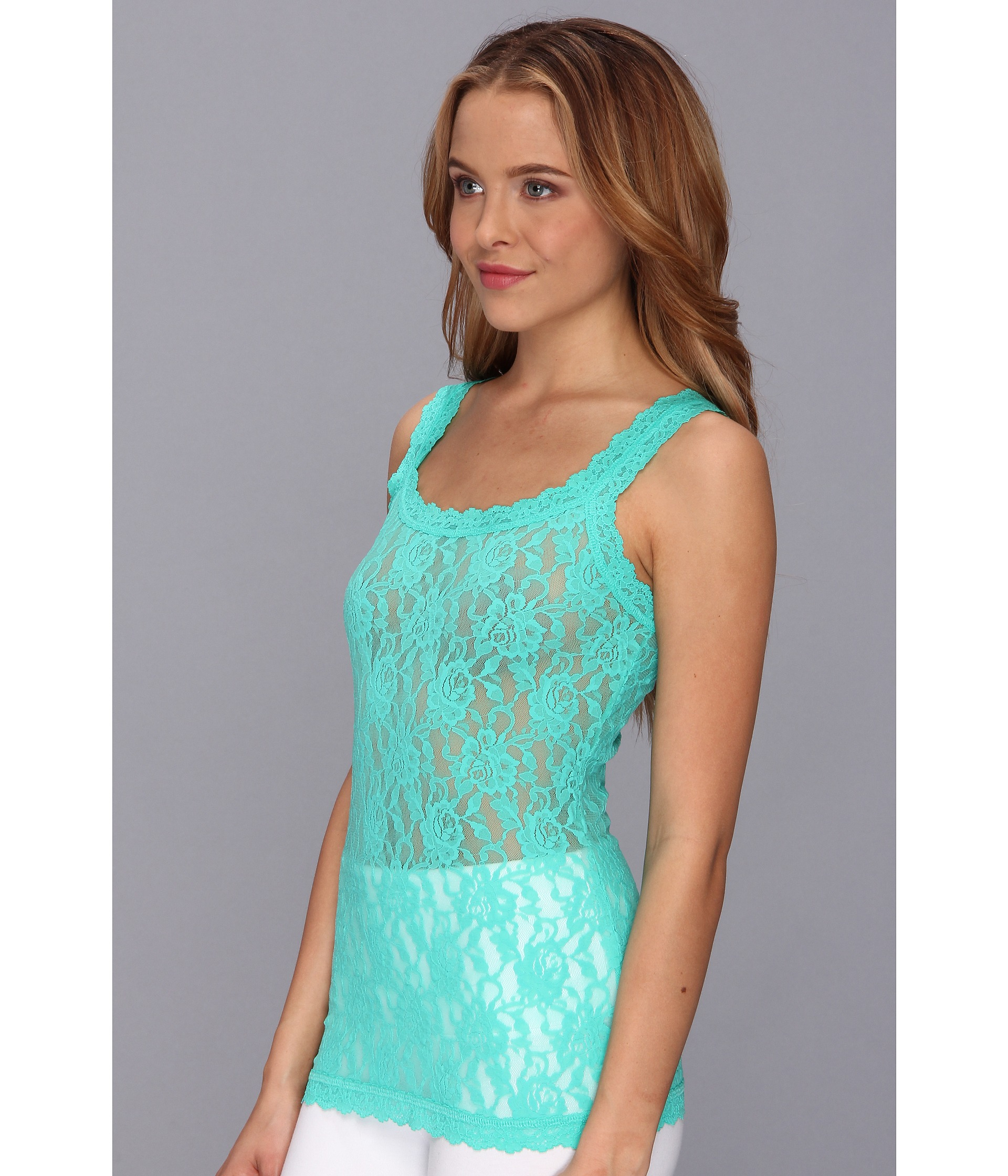 bc0a3311f Hanky Panky Signature Lace Unlined Cami in Blue - Lyst