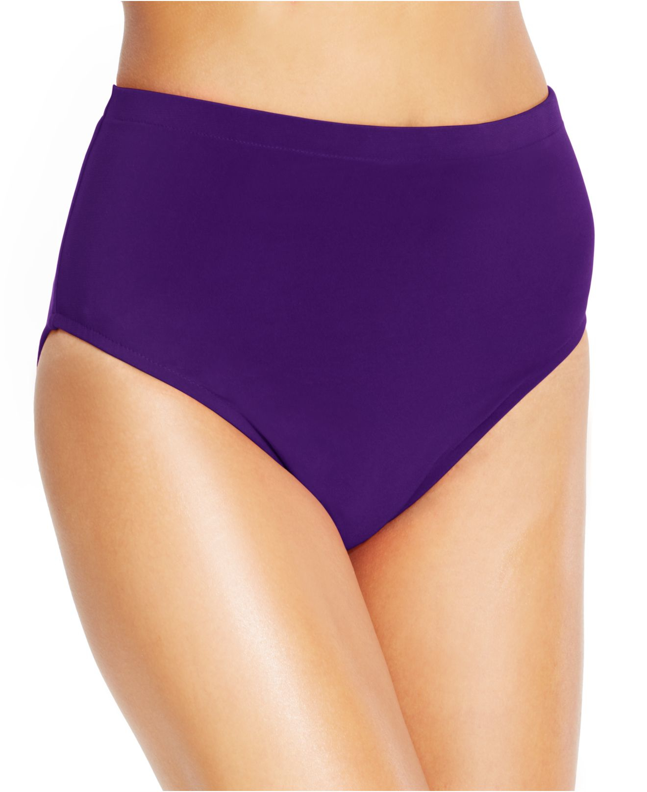 Miraclesuit High Waist Bikini Bottom In Purple Lyst
