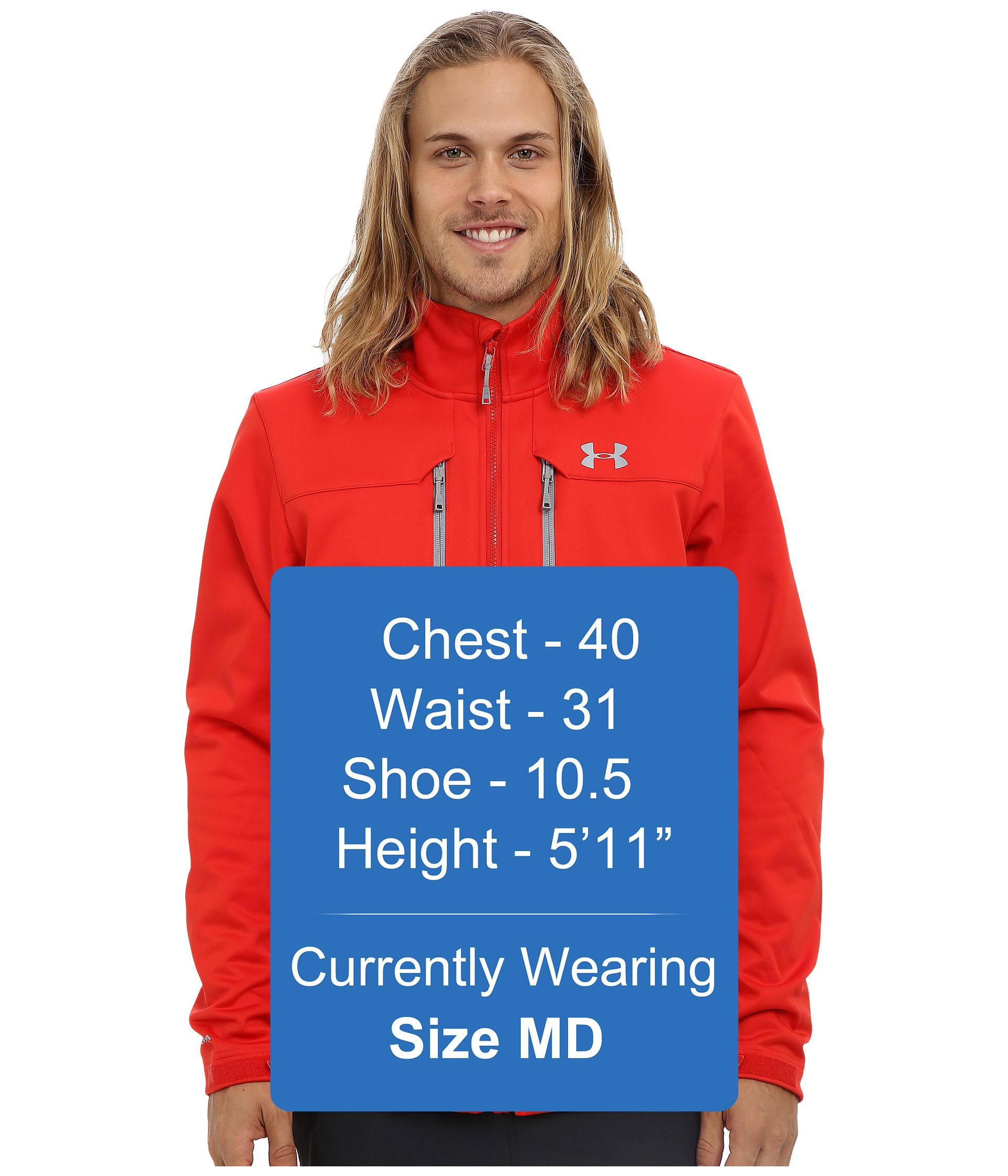 Lyst Under Armour Ua Coldgear Infrared Softershell Jacket In Red