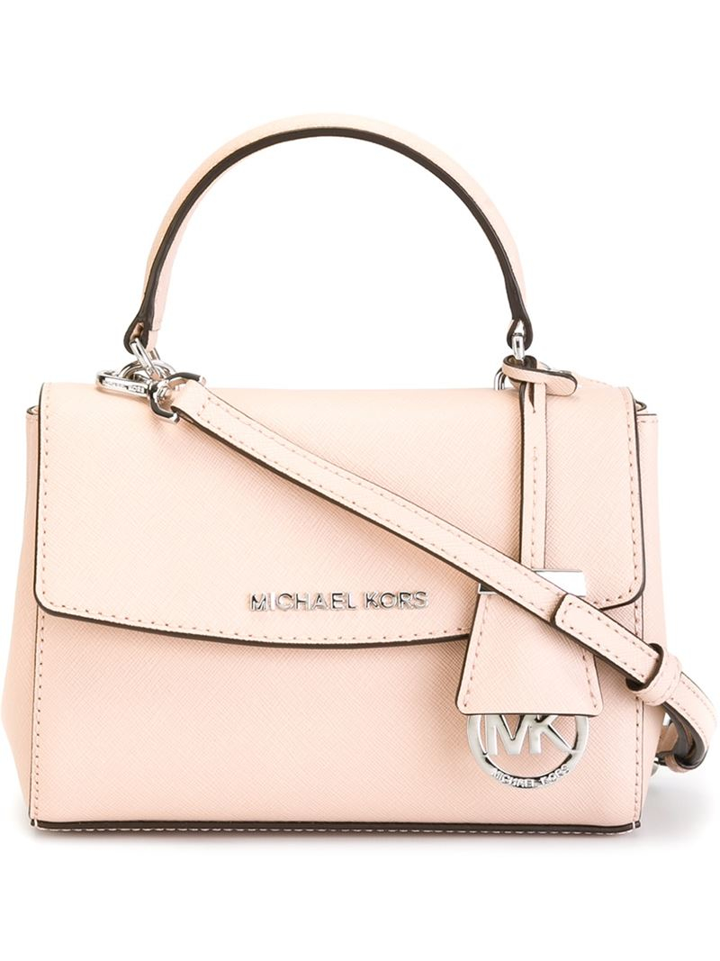 5fae420ea9774 ... aliexpress lyst michael michael kors extra small ava crossbody bag in  pink 92f55 a6d0f
