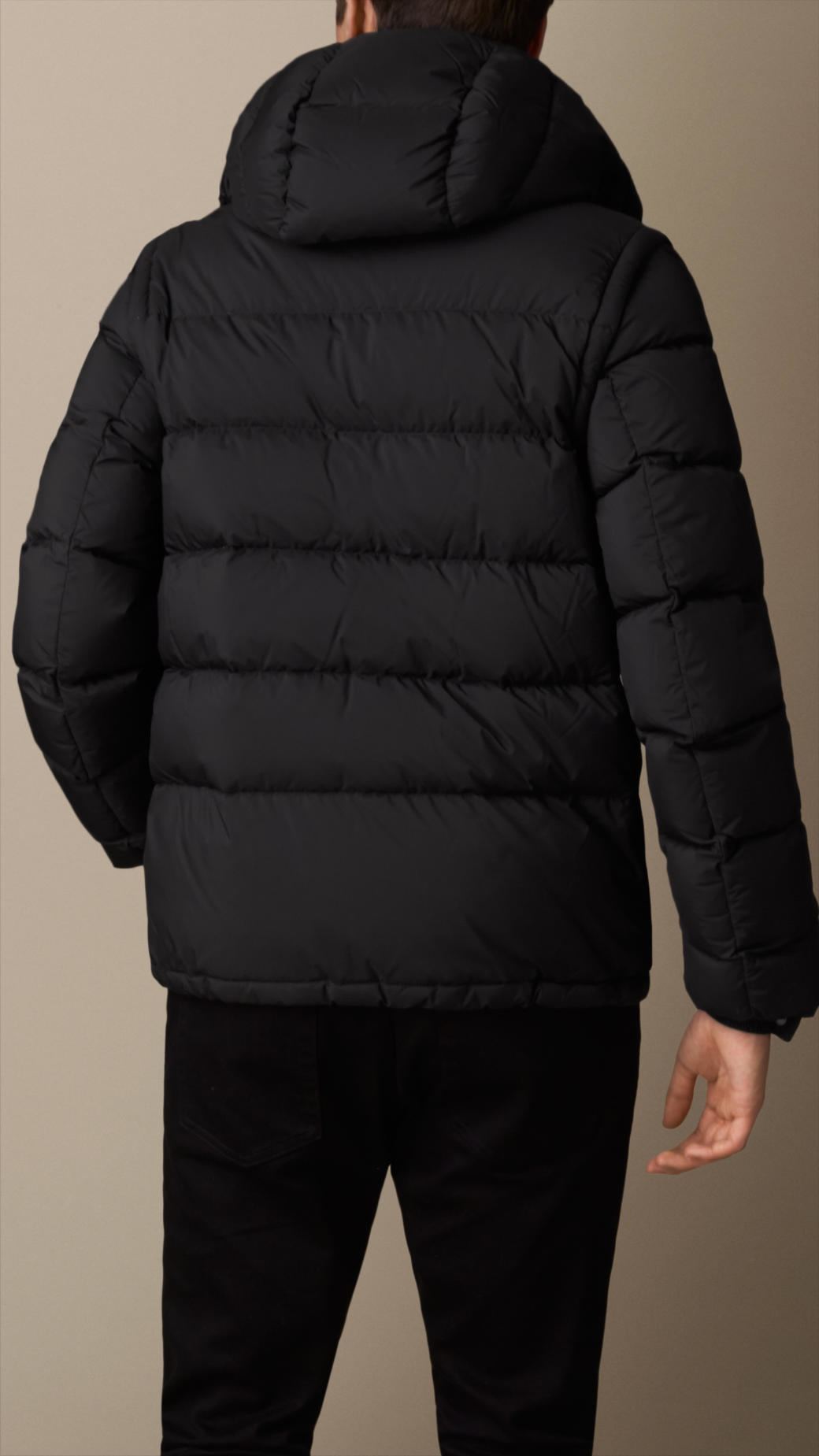 Lyst Burberry Puffer Jacket With Removable Sleeves Black