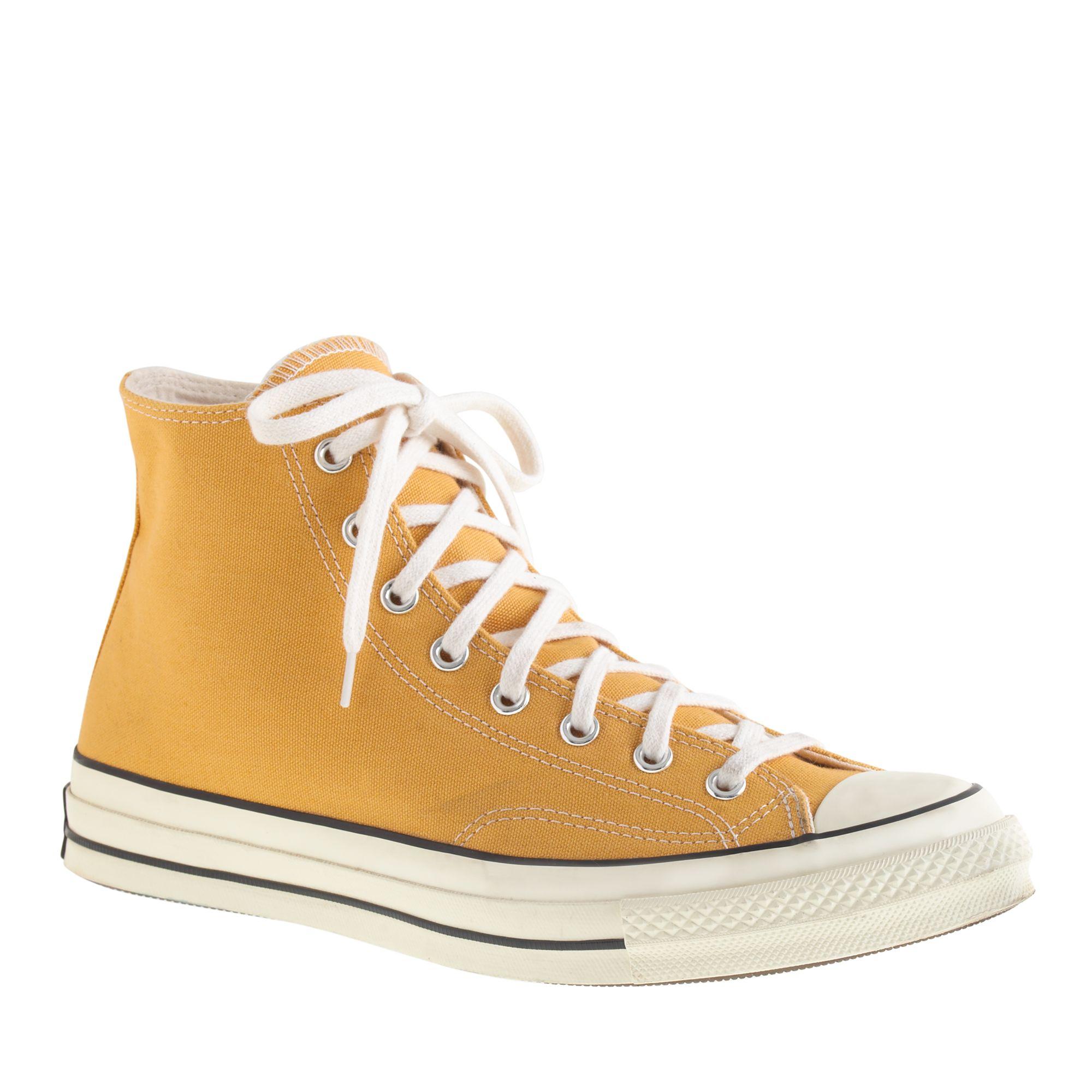 1cc2b77a866b19 J.Crew Converse Chuck Taylor All Star 70 Hightop Sneakers in Yellow ...