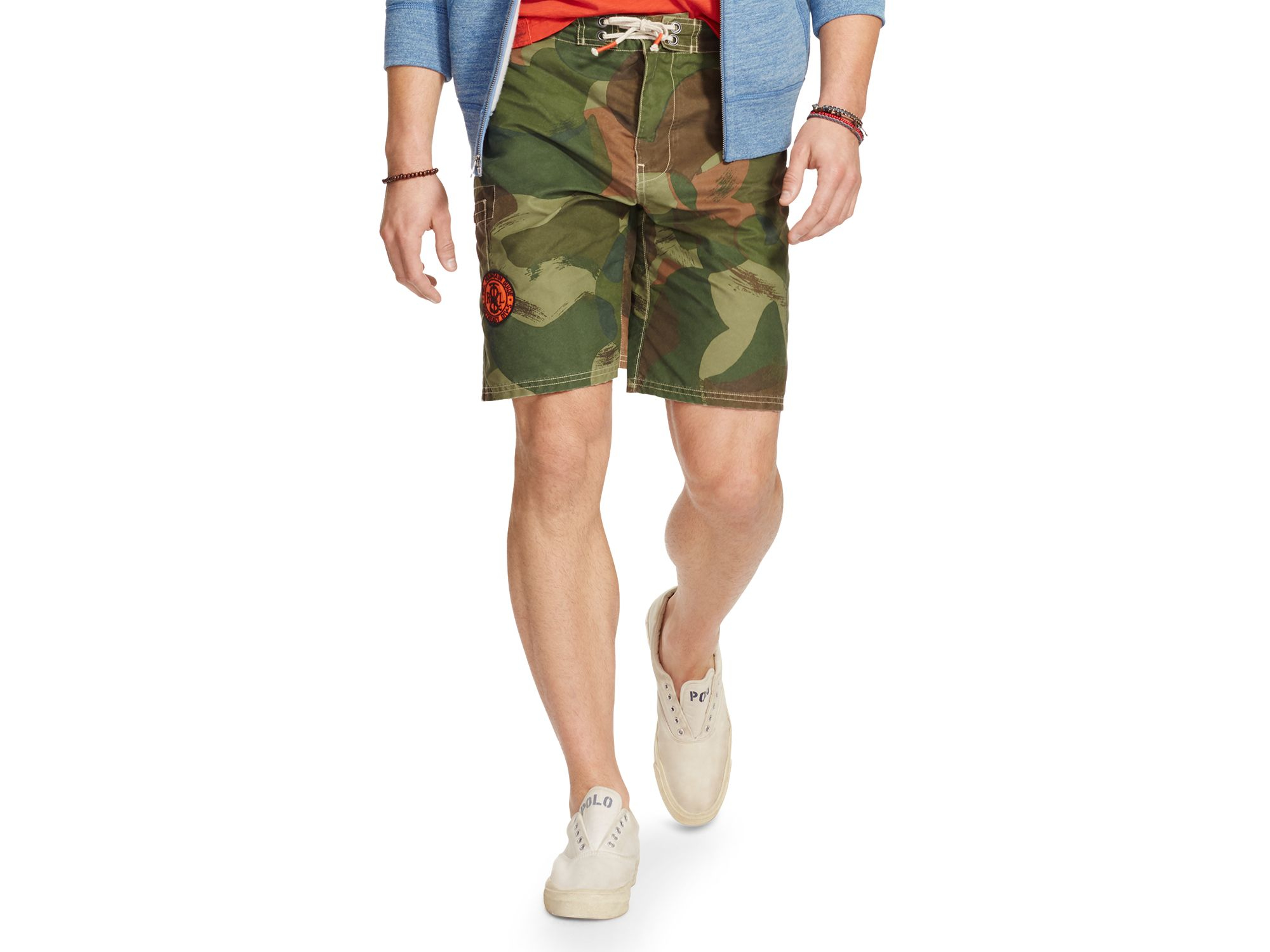 6771d02ee0 Polo Ralph Lauren Camouflage Shelter Island Swim Trunks in Green for ...