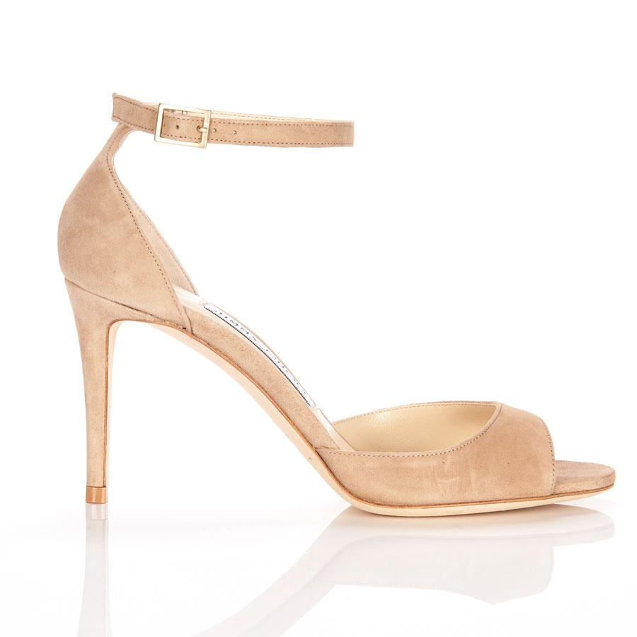 78470f33123 Lyst - Jimmy Choo Annie 85 Ankle Strap Suede Sandal In Nude in Natural