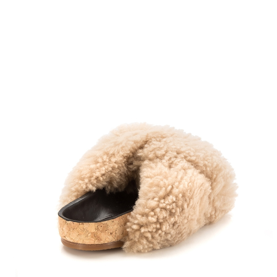 Discount Fast Delivery Buy Cheap New Styles Chloé Shearling Kerenn Slides Footaction Sale Online wihsrJeStk