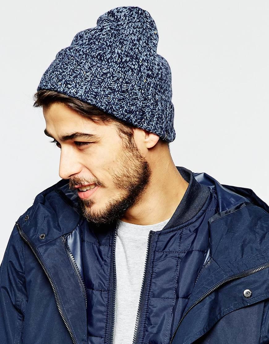 Lyst - Original Penguin Wool Beanie Hat in Blue for Men 0c29a619f9d