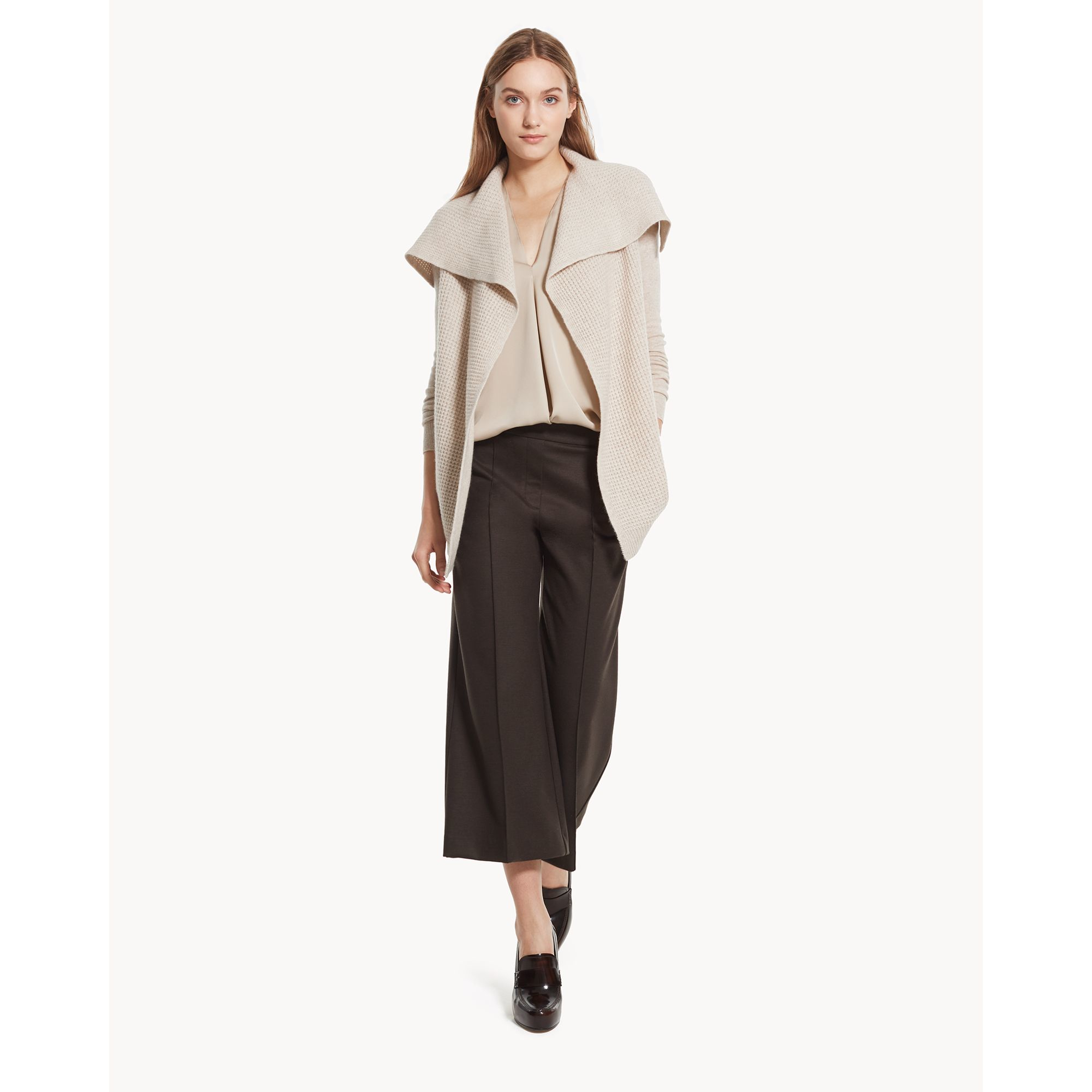 Theory Winxie D Cardigan In Cashmere in Natural | Lyst