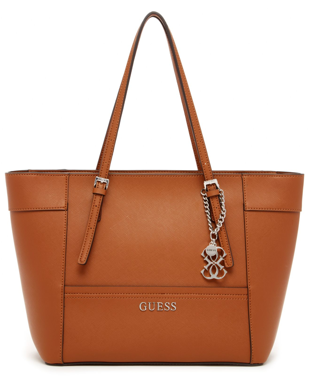 Guess Delaney Small Classic Tote in Brown (Cognac)