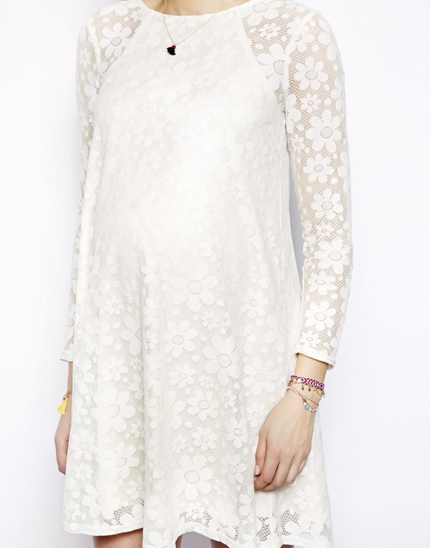f3c882e5b522 ASOS Swing Dress in Daisy Lace in White - Lyst
