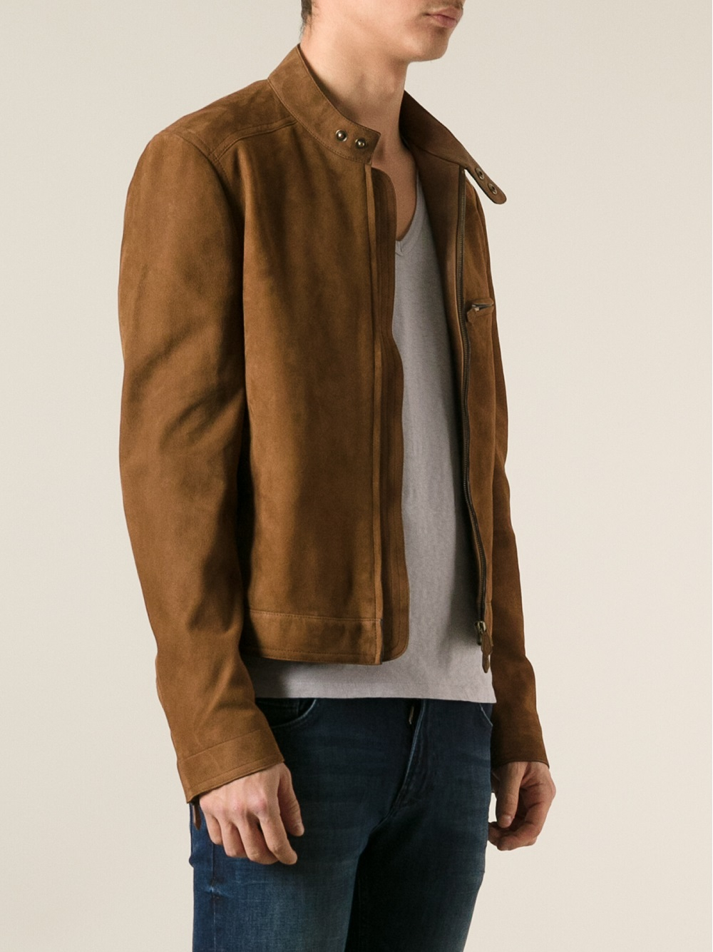 Tom ford Leather Jacket in Brown for Men | Lyst