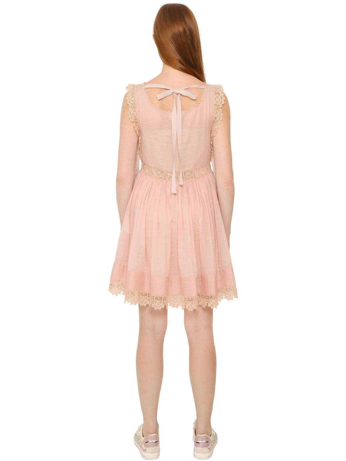 Crochet-top dress Red Valentino Buy Cheap Cheapest Cheap Sale Supply Outlet Online 1Bo8j