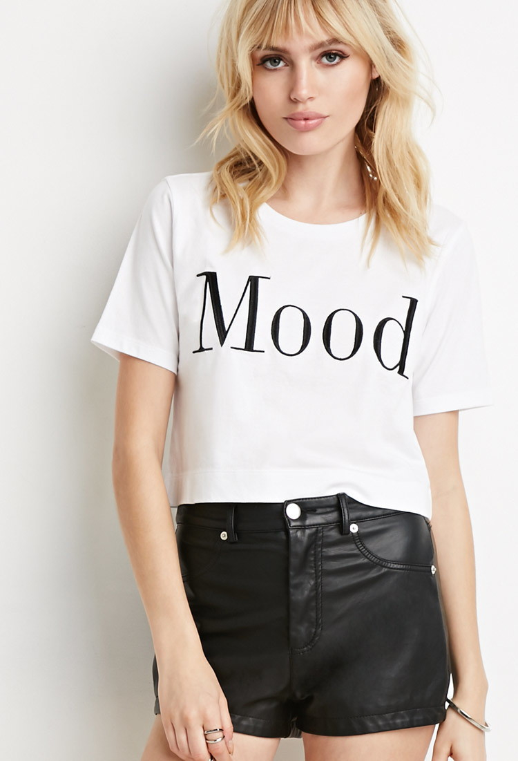 Forever 21 Mood Graphic Tee In White Lyst