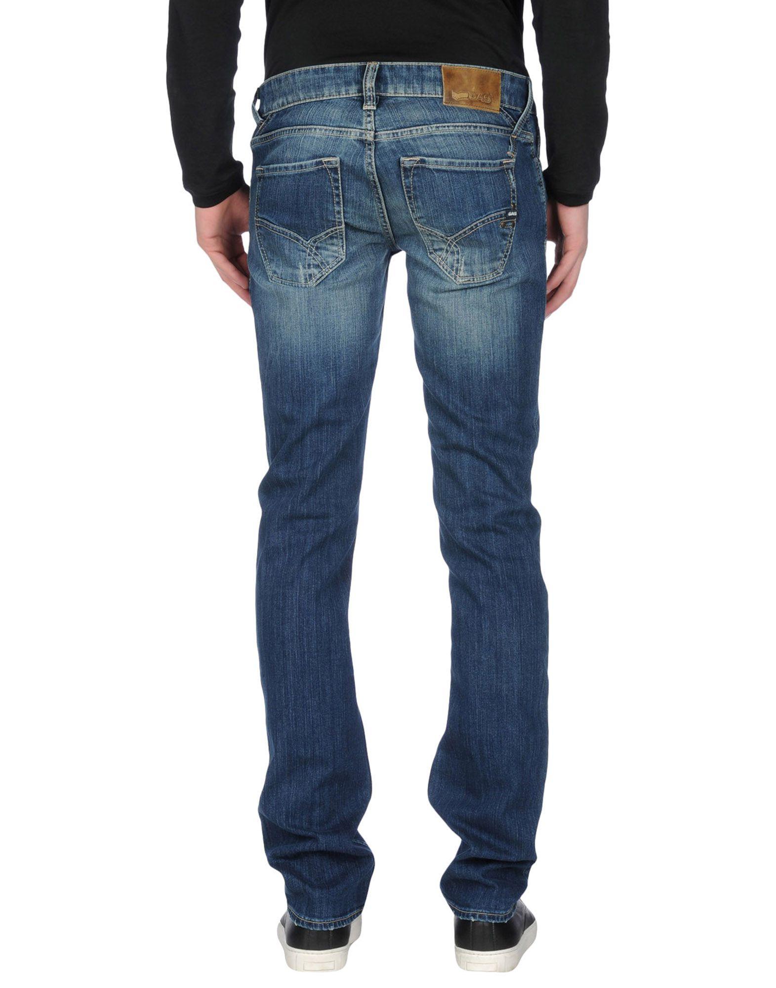 Gas Denim Trousers in Blue for Men | Lyst